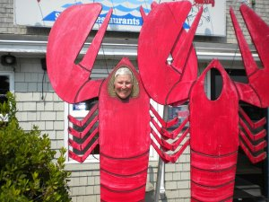 Sue the lobster at Belfast, ME